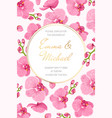 orchid wedding marriage event invitation card vector image vector image