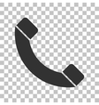 Phone sign Dark gray icon on