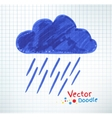 Pouring rain and cloud vector image vector image