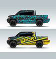 racing car graphic truck wrapping background vector image vector image