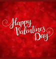 red background for valentines day vector image vector image