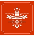 Red Christmas Greeting Card Background vector image vector image