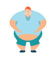 redhead fat guy glutton thick man fatso vector image vector image