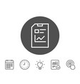report document line icon file sign vector image vector image