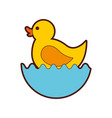 rubber duck toy icon vector image