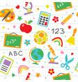 school seamless pattern childish school vector image