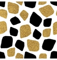 seamless background golden and silvern mosaic vector image