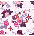 seamless pattern with colorful bunches roses vector image vector image