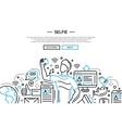 Selfie - line design website banner vector image vector image