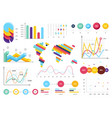set most useful infographic elements - bar vector image vector image