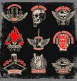 set music party rock emblems design element vector image