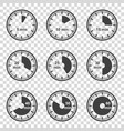 set of icons set of timers on a transparent vector image vector image