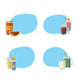 set of stickers with alcoholic drinks in vector image vector image
