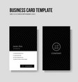 simple and minimalist business card vertical vector image