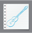 sketch of an acoustic guitar vector image vector image