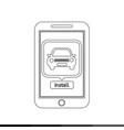 smart phone mobile car application icon design vector image vector image