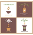 Steaming coffee or chocolate cup icons vector image