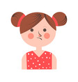 teenager girl in bad mood with paid hair on white vector image vector image