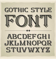 vintage label font modern style vector image vector image