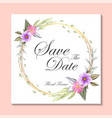 watercolor floral frame template card vector image