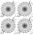 Wave Black And White Pattern vector image vector image