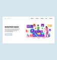 web site design template human resources vector image