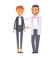 Wedding couple people vector image vector image