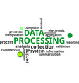 word cloud data processing vector image vector image