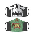 zombie mask vector image vector image