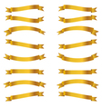 shiny golden ribbons set vector image