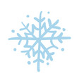 snowflake hand drawn isolated icon vector image