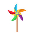 flat paper pinwheel windmill toy icon vector image