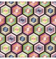 Seamless background geometry pattern vector image