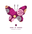 abstract textured bubbles butterfly silhouette vector image vector image