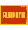 Alabama state name vector image vector image