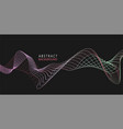 amplitude abstract background with dynamic waves vector image