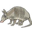 armadillo animal cartoon vector image vector image