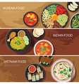 asia street food web banner vector image