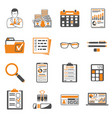 auditing tax accounting two color icons set vector image vector image