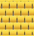 background of plastic stadium seats vector image vector image
