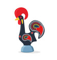barcelos portuguese rooster vector image vector image