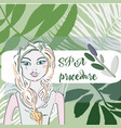 beauty hygiene and summer concept - beautiful vector image vector image