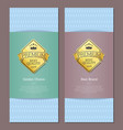 best premium brand quality and golden choice cards vector image