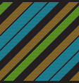black striped fabric texture seamless pattern vector image vector image
