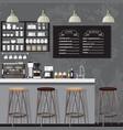 blackampwhite coffe shop vector image vector image