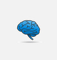 brain logo simple lines and curves design vector image vector image