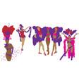 cabaret dancers vector image