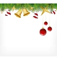 christmas card ornament hanging on tree vector image vector image