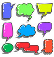 collection stock of bubble text style vector image vector image