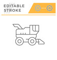 combine harvester line icon vector image